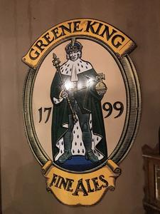 Emaille reclamebord Greene King | Pub decoratie | Horeca inrichting