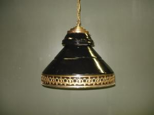 emaillen barlamp | messing barlamp | hangverlichting | horecaverlichting