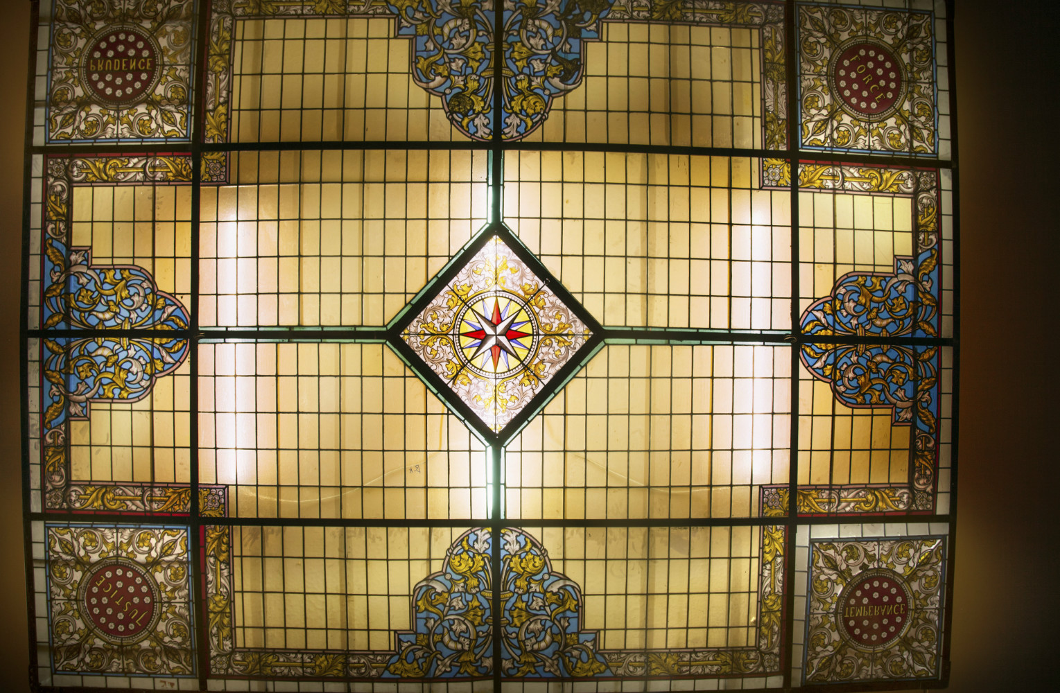 Glas In Lood Engels.Gebrandschilderd Glas In Lood Plafond 300x400 Cm Sijf Dax