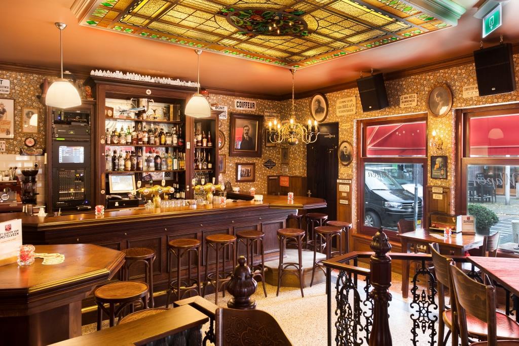 Jordaans caf interieur wapen van amstelveen amsterdamse kroeg horeca interieurbouw - Behang voor restaurant ...